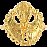 Vintage 21 Karat Yellow Gold Cocktail Ring High Karat Gold Fine Estate Jewelry