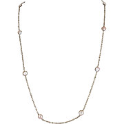 "Cultured Baroque Pearl 35"" Long Necklace 14 Karat Yellow Gold Vintage Jewelry Estate"