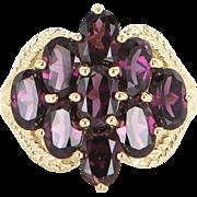 Rhodolite Garnet Cocktail Ring 14k Gold Estate Fine Jewelry Pre Owned Fine 6