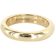 Vintage Tiffany & Co 14 Karat Gold Sz 6.25 4mm Wedding Band Ring Estate Fine Jewelry