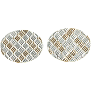 Tiffany & Co Mens 925 Sterling Silver 14 Karat Gold Vintage Cufflinks Mens Fine Jewelry ...