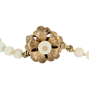 Angel Skin Coral Graduated Necklace Vintage 14 Karat Gold Estate Fine Jewelry