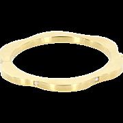 Estate Designer Mont Blanc 18 Karat Yellow Gold Diamond Bangle Bracelet