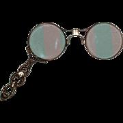 Antique 14K Gold - Lorgnette - Fancy Yellow Solid Gold Glasses w/ Fancy Handle