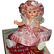 VIRGA - LOLLY-POP DOLL - Pink Hair & Pink Dress - 1955 - With Box - Hard Plastic - 8""