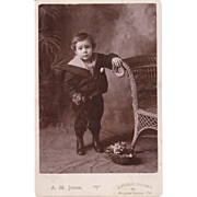 "ORIGINAL LITTLE BOY PHOTO - Vintage - Black & White - 6 1/2""- x 4 1/4"" - Dark ..."