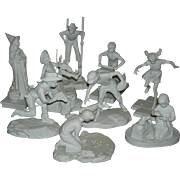 NORMAN ROCKWELL - JOYS OF CHILDHOOD - Nine (9) - Bisque Figurines - Children Playing!! - 1976