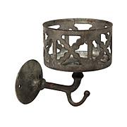 Antique Wall-Mount Brass Tumbler Holder