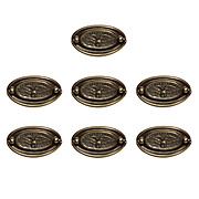 Stately Antique Figural Cabinetry Pulls with Eagles