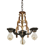 Wonderful Antique Art Deco Chandelier by Halcolite