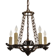 Marvelous Antique Five-Light Chandelier, Riddle Co.