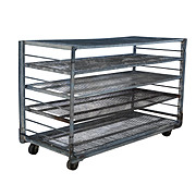 Salvaged Industrial Shelving Unit, Colonial Bread