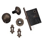 Beautiful Antique Eastlake Cast Bronze Hardware Set, 1880.