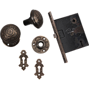 Beautiful Antique Eastlake Cast Bronze Hardware Set, 1880.