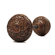 "Divine Antique Cast Bronze Mallory & Wheeler ""Star"" Doorknob Set, c. 1874"