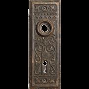 "Antique Eastlake ""Magnolia"" Doorplates by Penn Hardware, c. 1907"
