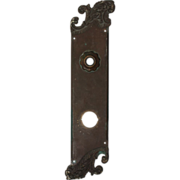 "Attractive Antique Entry Backplate, ""Americus"" by Reading Hardware c. 1910"