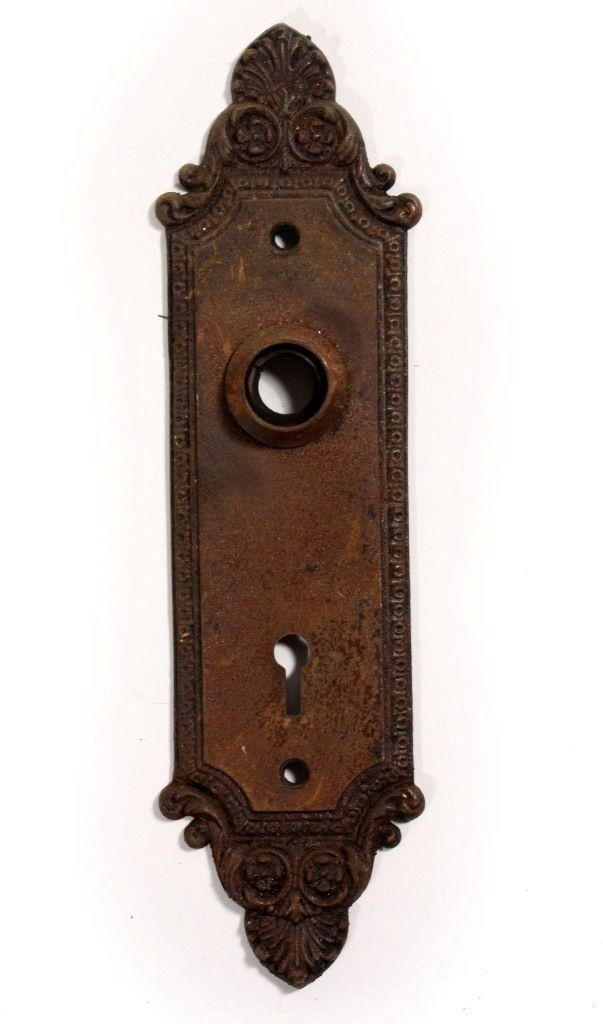 Antique Cast Iron Geneva Door Plates Barrows Lock Co