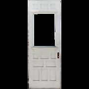 """SOLD Reclaimed 32"""" Eastlake Door, Carved Pinwheel Detail"""