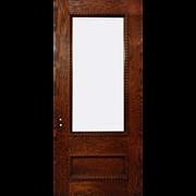 """SOLD Reclaimed 36"""" Oak Door with Beveled Glass"""