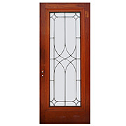 """Fabulous 34"""" Reclaimed Door with Leaded and Beveled Glass"""