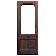 "Beautiful Antique 34"" Door with Carved Foliates"