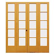 Reclaimed Pair of Antique Divided Light Bi-Fold Doors
