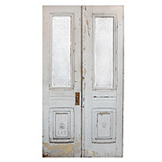 "Reclaimed Pair of 44"" Antique Double Doors, Early 1900s"