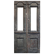 "Delightful Salvaged 42"" Eastlake Door Pair with Carving, c.1880"