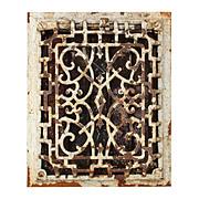 Antique Cast Iron Heat Register, Late 1800s