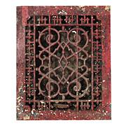 Antique Cast Iron Heat Register, Abstract Pattern