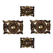 Elegant Antique Ormolu Furniture Mounts, c. 19th Century