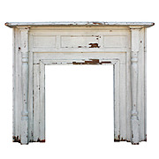 Beautiful Antique Fireplace Mantel, Early 1900s