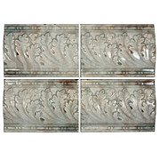 "Antique Tiles with Foliate Design, Providential Tile Works, 6"" x 4 ¼"""