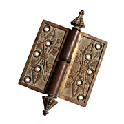 "Antique 4"" Bronze Lift-Off Hinge with Steeple Finials, c. 1869"