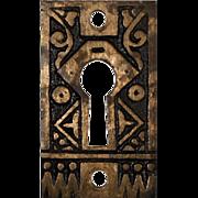 Delightful Antique Eastlake Keyhole Cover, c. 1880s