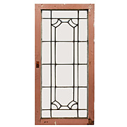 Understated Antique American Leaded Glass Windows