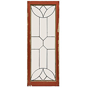 Lovely Antique American Beveled and Leaded Glass Window
