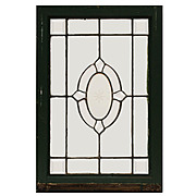 Marvelous Antique Leaded and Beveled Glass Windows, Hand-Cut Star