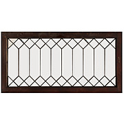 Stunning Antique American Leaded & Beveled Glass Transom