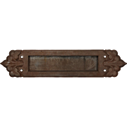 Striking Antique Cast Iron Tudor Letter Slot