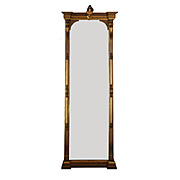 Extraordinary 11' Figural Pier Mirror from the Belmont Mansion, c.1873