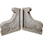 Gorgeous Pair of Antique Marble Corbels