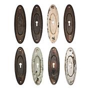 Delightful Oval Pocket Doorplates, c. Early 1900s