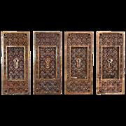 "Antique Cast Bronze ""Madras"" Pocket Door Plates by Yale & Towne, c.1894"