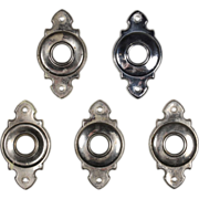 Antique Nickel Doorknob Escutcheons