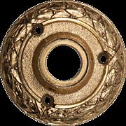Antique Cast Brass Doorknob Escutcheons by Sargent