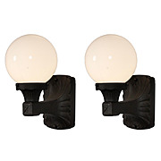 Wonderful Pair of Antique Exterior Sconces with Glass Globes
