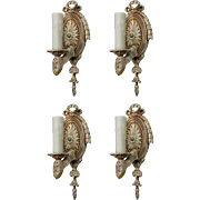 Charming Pairs of Antique Neoclassical Sconces, c.1920