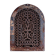 Splendid Antique Cast Iron Arched Wall Vent, Late 1800's